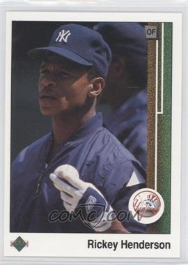1989 Upper Deck #210 - Rickey Henderson