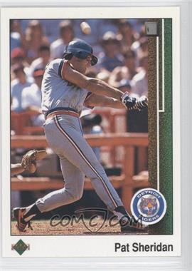 1989 Upper Deck #652.1 - Pat Sheridan (Error: No Position on Front)