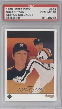 1989 Upper Deck #669 - Nolan Ryan [PSA 10]