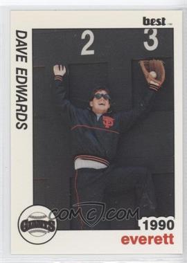1990 Best Everett Giants #28 - Dave Edwards