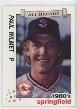 1990 Best Springfield Cardinals All Decade - [Base] #16 - Paul Wilmet
