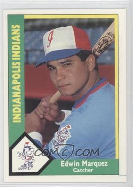 1990 CMC AAA - Indianapolis Indians Green Backs #12 - Edwin Marquez