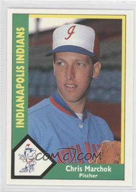 1990 CMC AAA - Indianapolis Indians Green Backs #5 - Chris Marchok