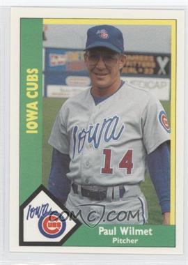 1990 CMC AAA - Iowa Cubs Green Backs #10 - Paul Wilmet