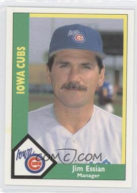 1990 CMC AAA - Iowa Cubs Green Backs #24 - Jim Essian