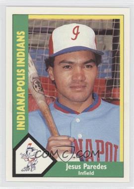1990 CMC AAA Indianapolis Indians Green Backs #21 - Jeff Parrett