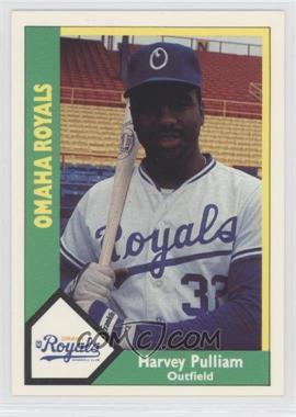 1990 CMC AAA Omaha Royals Green Backs #17 - Harvey Pulliam
