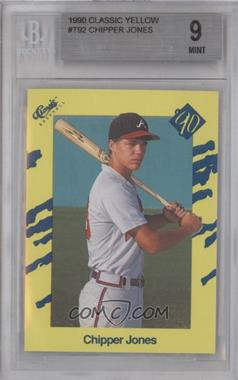 1990 Classic Update Yellow Travel Edition #T92 - Chipper Jones [BGS 9]