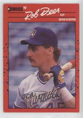 1990 Donruss Aqueous Test #55 - Rob Deer