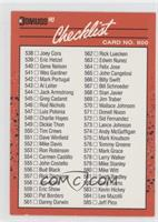 Checklist (Cards 538-639)