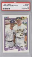 A.L. All Stars (Don Mattingly, Mark McGwire) [PSA 10]