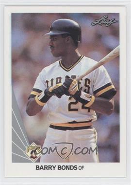1990 Leaf - [Base] #91 - Barry Bonds