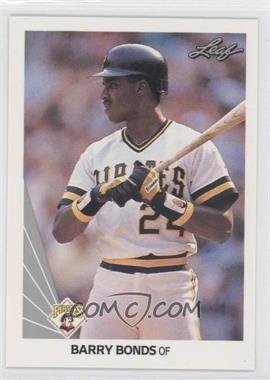 1990 Leaf #91 - Barry Bonds