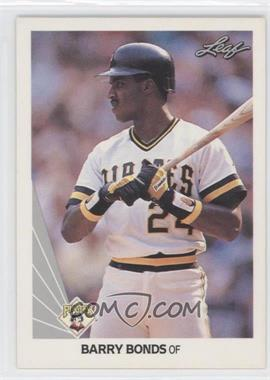 1990 Leaf #91 - Barry Bonds