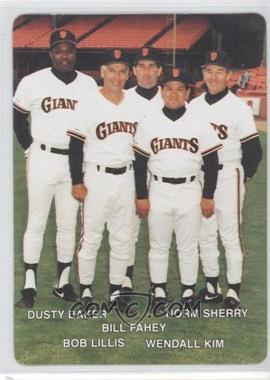 1990 Mother's Cookies San Francisco Giants Stadium Giveaway [Base] #27 - Bill Faul, Wes Kingdon, Norm Sherry, Johnnie B. Baker, Jr., Nobutoshi Shimada, Weong-guk Kim