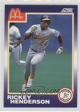 1990 Score McDonald's - [Base] #5 - Rickey Henderson