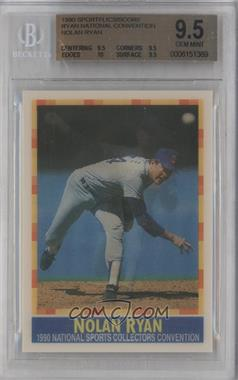 1990 Sportflics Score Nolan Ryan National Convention Optigraphics Printing Tour [Base] #N/A - Nolan Ryan [BGS 9.5]