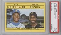 Barry Bonds, Ken Griffey Jr. [PSA9]