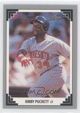 1991 Leaf Preview #21 - Kirby Puckett