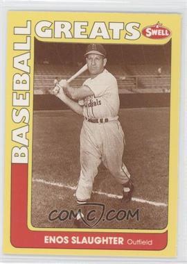 1991 Swell Baseball Greats #84 - Enos Slaughter