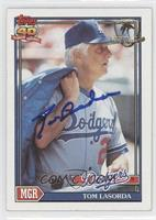 Tom Lasorda [PSA/DNA Certified Auto]