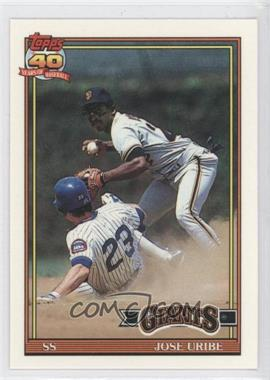1991 Topps - Factory Set [Base] - Collector's Edition (Tiffany) #158 - Jose Uribe