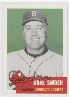 1991 Topps Archives The Ultimate 1953 Set - [Base] #327 - Duke Snider