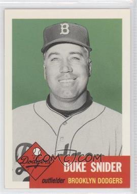 1991 Topps Archives The Ultimate 1953 Set #327 - Duke Snider