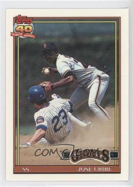 1991 Topps Factory Set [Base] Collector's Edition (Tiffany) #158 - Jose Uribe