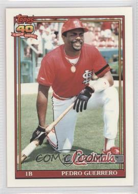 1991 Topps Factory Set [Base] Collector's Edition (Tiffany) #20 - Pedro Guerrero