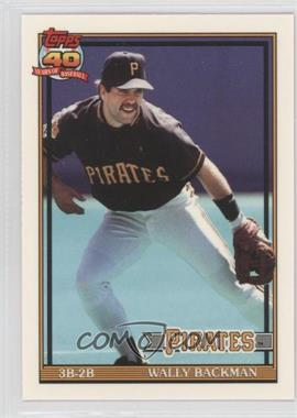 1991 Topps Factory Set [Base] Collector's Edition (Tiffany) #722 - Wally Backman