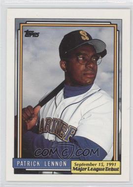 1991 Topps Major League Debut Box Set [Base] #107 - Patrick Lennon