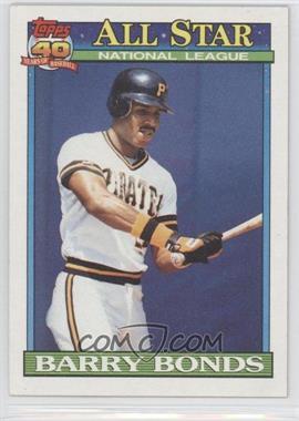 1991 Topps #401 - Barry Bonds