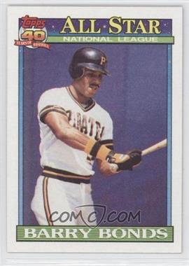 1991 Topps #401 - Barry Bonds