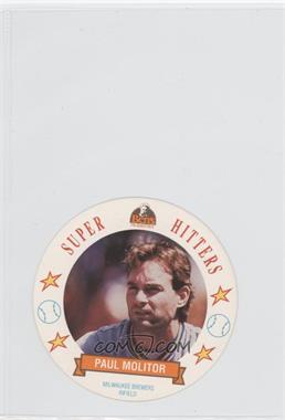 1992 Ben's Bread Super Hitters Discs #8 - Paul Molitor