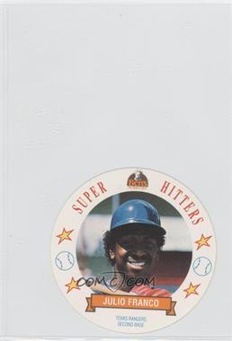 1992 Ben's Bread Super Hitters Discs #9 - Julio Franco