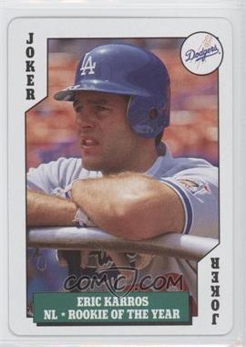 1992 Bicycle Baseball Rookies Playing Cards Box Set [Base] #J - Eric Karros