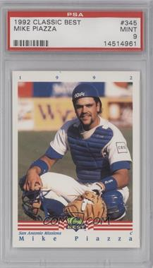 1992 Classic Best Minor League - [Base] #345 - Mike Piazza [PSA9]