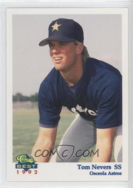 1992 Classic Best Osceola Astros #1 - Tom Nevers