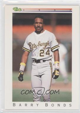 1992 Classic Update White Travel Edition #T16 - Barry Bonds
