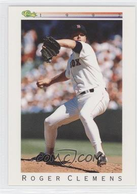 1992 Classic Update White Travel Edition #T26 - Roger Clemens
