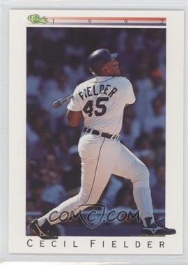 1992 Classic Update White Travel Edition #T33 - Cecil Fielder