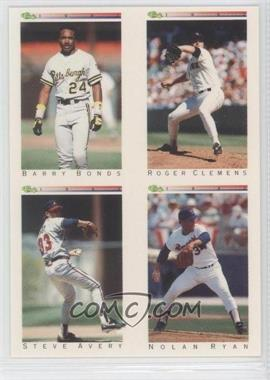 1992 Classic Update White Travel Edition #TN/A - Barry Bonds, Steve Avery, Nolan Ryan