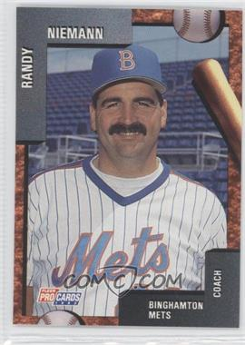 1992 Fleer ProCards Minor League - [Base] #534 - Randy Niemann