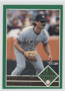 1992 Fleer Team Leaders #1 - Don Mattingly