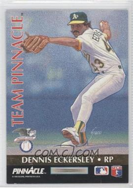 1992 Pinnacle [???] #11 - Dennis Eckersley, Rob Dibble
