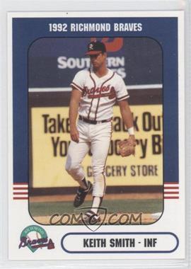 1992 Richmond Comix & Cardz Richmond Braves #36 - Kevin Smith