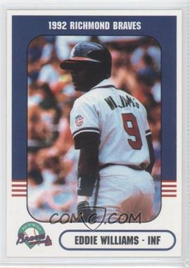 1992 Richmond Comix & Cardz Richmond Braves #9 - Eddie Williams