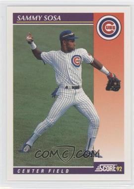 1992 Score Rookie & Traded - [Base] #23T - Sammy Sosa