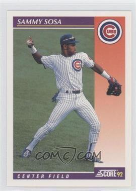 1992 Score Rookie & Traded #23T - Sammy Sosa
